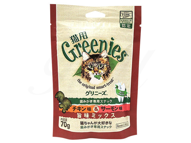 (グリニーズ)歯みがき専用スナックチキン味&サーモン味旨味ミックス(猫用)